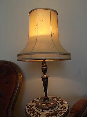 Antique silver plated lamp PARKER  made in England