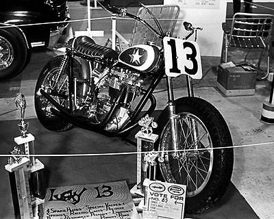 1966 Triumph Custom Motorcycle Photo Poster zm1812-LPDFHF