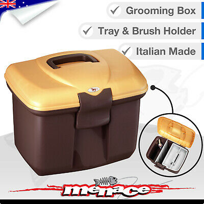 Horse / Pony Stable Kit Tack Box - Pet / Grooming Tool Boxes Equestrian - Gold