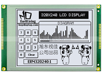 """5.7""""White 320x240 Graphic LCD Module ,RA8835 (SED1335),Optional Touch Panel"""