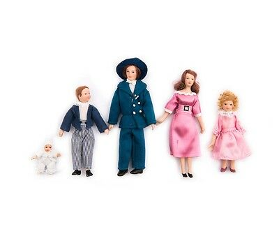 New Smart 5 Piece Dolls House Family Set People Figures Modern 12th Scale