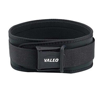 """Valeo Competition CLASSIC VCL LIFTING BELT Memory Foam Support - 4"""" Width BLACK"""