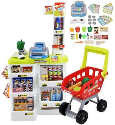 deAO Kids Role Play Supermarket Set with Shopping Acessories