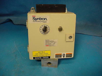 FMC Syntron Electric vibratory controller #CNDCTR DC118 FO/PT 115V 18 Amps