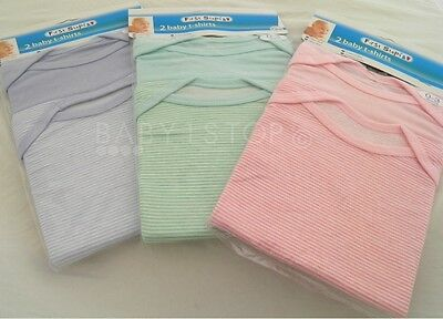 Baby 2 Pack T-Shirts Choice of Blue / Mint / Pink Size 0-3 3-6 6-9 Months