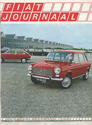 Nov 1968 Fiat Journal Factory Magazine Brochure Dutch 1969 wt6502