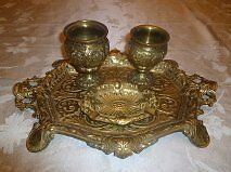 Antique Solid Brass Service Set