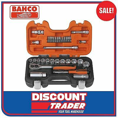 "Bahco Socket Set 34 Piece 1/4"" & 3/8"" Square Drive - S330"