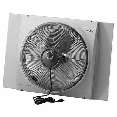 Air King 9166 20 Inch 3560 CFM Whole House Window Mounted Fan with Storm Guard H