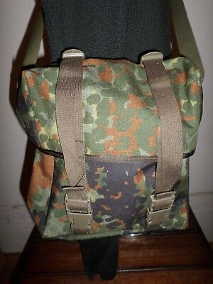 Genuine German Military Flecktarn Camouflage Shoulder Bag Haversack