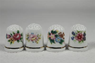 Set Of Four Floral Thimbles -  Fun Flowers  NEW In Box!