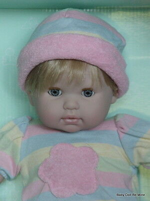 "Berenguer Nonis in Pastel Stripes 15 "" Doll open/close eyes Made in Spain 30022"
