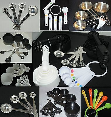 Measuring Spoons Cups plastic metal black white big selection FREE POSTAGE