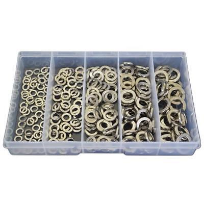 Qty 225 Spring Washer Kit M5 M6 M8 M10 M12 Stainless Steel 304 Grade SS #133