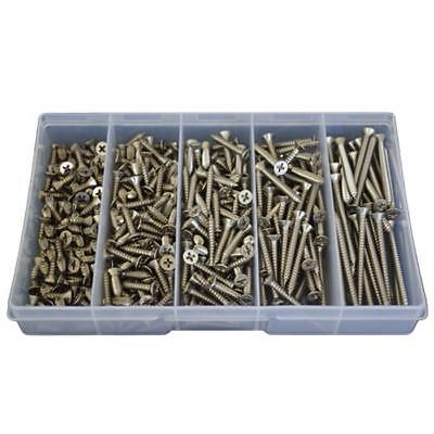 Qty 370 Countersunk 8g Self Tapping Screw Kit 304 Stainless Phillip Tapper #136
