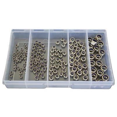 Qty 150 Nyloc Nut Kit M3 M4 M5 M6 M8 Stainless Steel 304 Grade SS #182