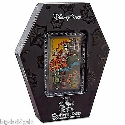 Disney Nightmare Before Christmas Playing Card Set Haunted Mansion Coffin Deck