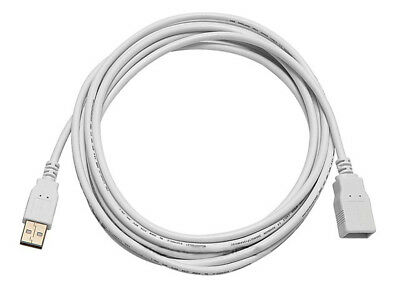 10ft USB 2.0 A Male to A Female Extension 28/24AWG Cable (Gold Plated) - WHITE