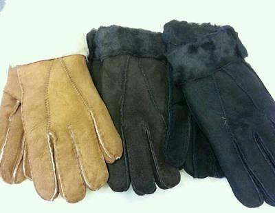 ladies sheepskin gloves assorted colours