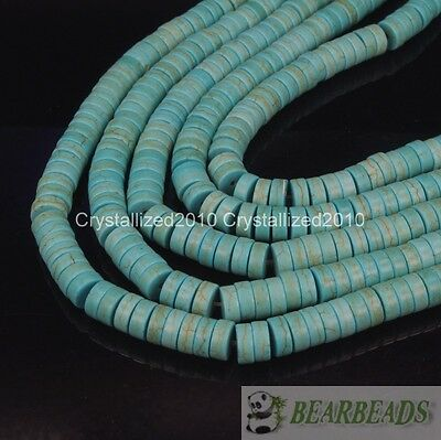 Blue Howlite Turquoise Gemstone Heishi Spacer Beads 2mm 3mm 4mm 6mm 8mm 10mm 16""