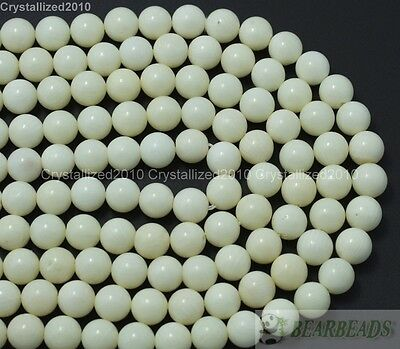 Natural White Coral Gemstone Round Ball Beads 6mm 8mm 10mm 12mm 14mm 16mm 16""