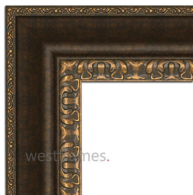 Picture Frame, Poster Arts, Wedding Photo or Diploma Antique Black and Gold