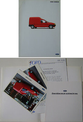 Ford Courier Van Original 1991 UK Launch Press Kit Fiesta