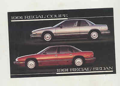 1991 Buick Regal Coupe & Sedan Factory Postcard mx8027
