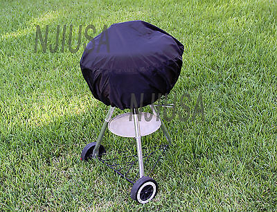 """Round Charcoal Kettle BBQ Grill 26"""" - 31"""" Diameter EZ Use Cover w/ Drawstring"""