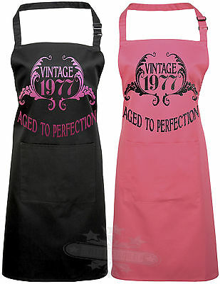 40th Birthday apron gift celebration Vintage year 1978 aged to perfection