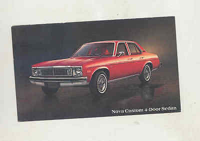 1978 Chevrolet Nova Custom Sedan Factory Postcard mx8122