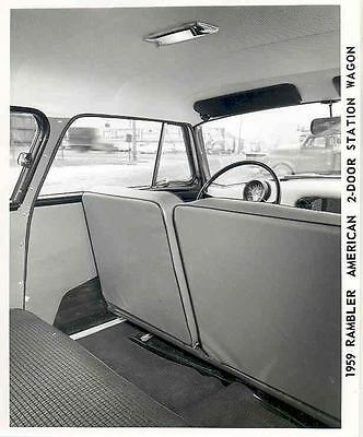 1959 AMC Rambler Station Wagon Interior Photo Poster zab8619-AOQ6EH