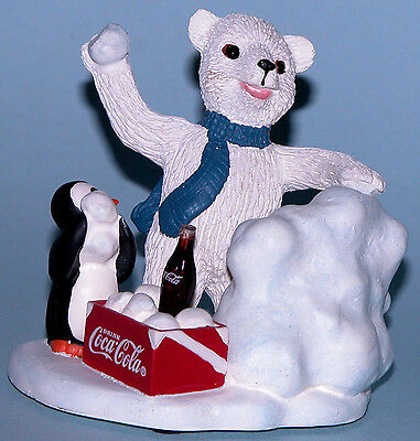 "Coca Cola Heritage Collection  ""Snowday Adventure"" polar bear snowball fight"