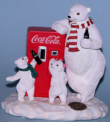 "Coca Cola Heritage Collection Cavanaugh ""Refreshing Treat"" polar bears w cubs"