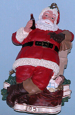 "Coca Cola Heritage Collection Cavanaugh ""For Me"" ornament Santa"
