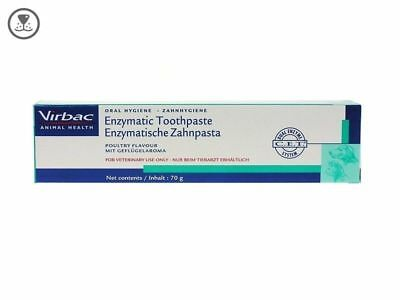 CET Virbac Enzymatic Dog Cat Toothpaste Poultry 2.5oz/70G Control Plaque Tartar