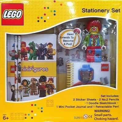 Lego 'Classic' 7 Piece Boxed Stationery Set Brand New Gift