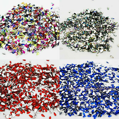 1000 Teardrop Rhinestones Acrylic Gems Nail Art Crystal Flat Back Crafts Cards
