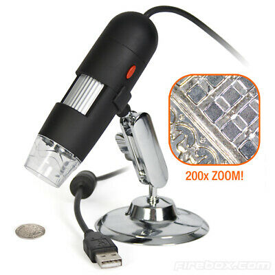 Microscopio Digitale Usb 20X - 800X Pc Notebook Foto E Video 8 Led 2.0Mpx Staffa