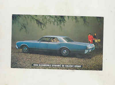 1966 Oldsmobile Dynamic 88 Holiday Sedan Factory Postcard mx8359