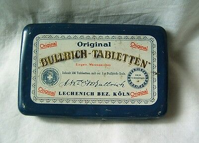 Antique original medical medicine tin box Germany BULLRICH-TABLETTEN 125 years