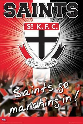 AFL St Kilda Saints Logo POSTER 60x90cm NEW * aussie rules footy football team