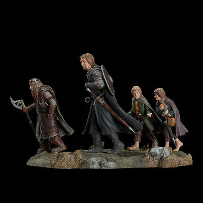 LORD OF THE RINGS - Fellowship of the Ring Set 2 Polystone Statue Weta