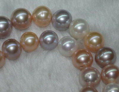 """Natural AA+ 9-10MM multicolor round freshwater pearls loose Beads 16"""""""