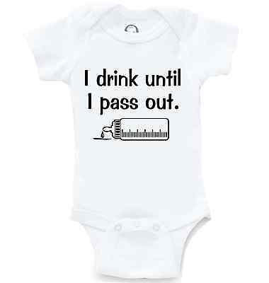 d2facfac5 Drink Until Pass Out Funny Onesie Cute Baby Shower Gift Infant Bodysuit  Creeper
