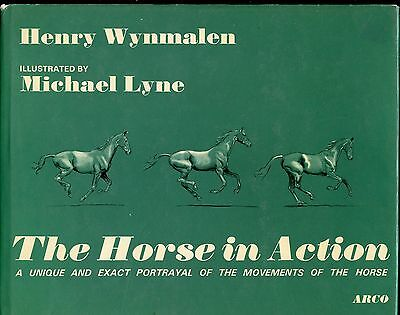 THE HORSE IN ACTION by HENRY WYNMALEN    ILLUSTRATED by MICHAEL LYNE    1973