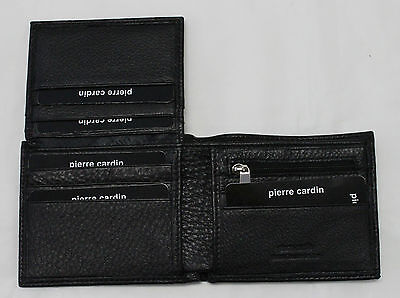 Father's Day Gift Pierre Cardin Genuine Italian Leather Mens Bifold Wallet
