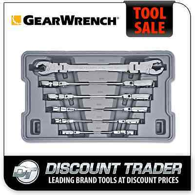 GearWrench 6 Pc. Metric Ratcheting Flex Flare Nut Spanner Set - 89101D