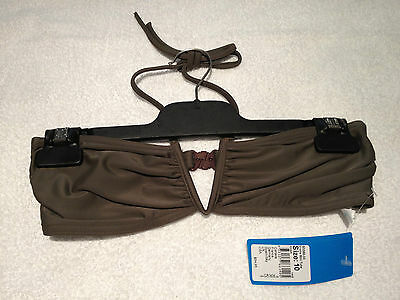 Seafolly swimwear V-Wire Mini Tube Size 10 Khaki Brand New with tags S3358-33