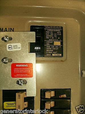 EAT-CH200XA Cutler Hammer Or Eaton Generator interlock kit 150 200 Amp CH Listed